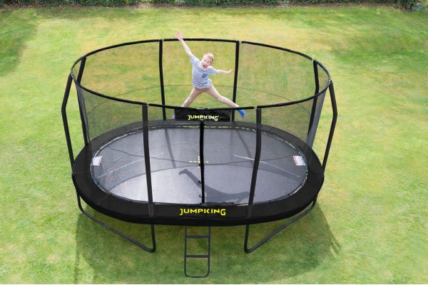 Jumpking 10ft x 15ft Oval JumpPod Premium Trampoline