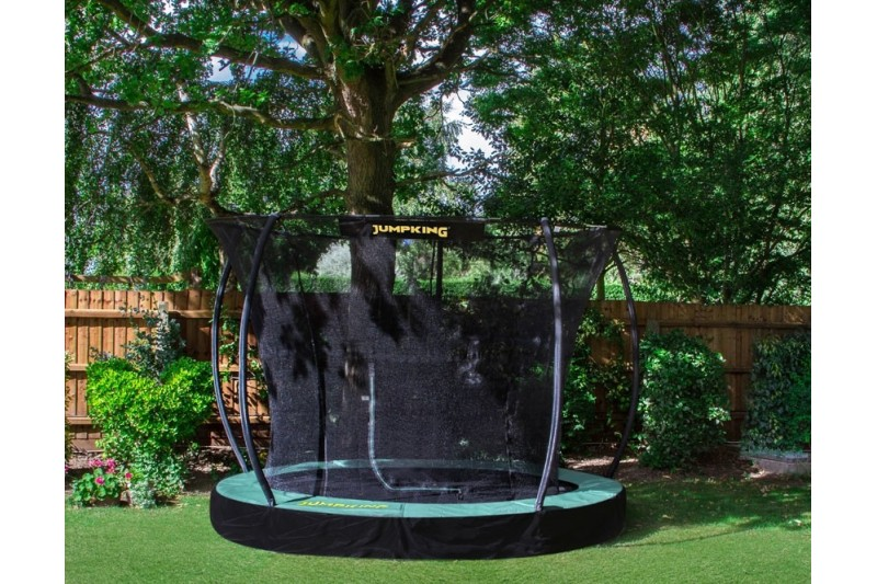 JumpKing 10ft InGround Deluxe Trampoline with Enclosure
